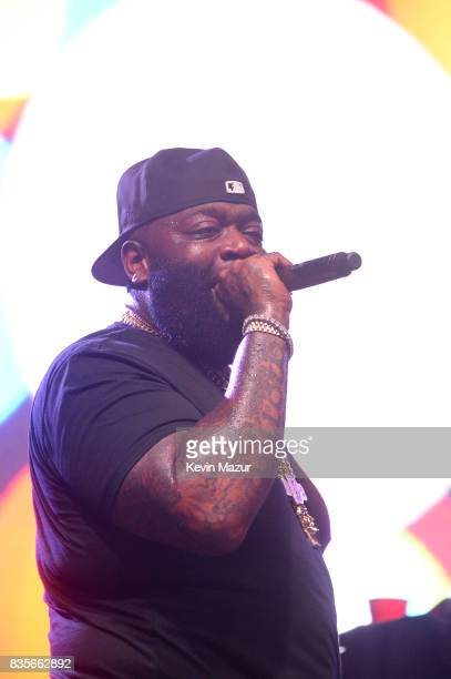 Rick Ross performs during Day One of 2017 Billboard Hot 100 Festival at Northwell Health at Jones Beach Theater on August 19 2017 in Wantagh City