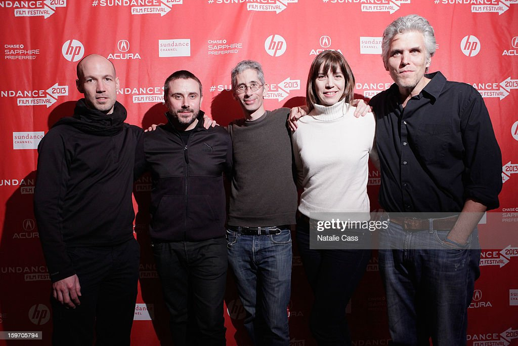 Rick Rowley, Jeremy Scahill, Anthony Arnove, Brenda Coughlin and David Riker attend the 'Dirty Wars' Premiere during the 2013 Sundance Film Festival at Eccles Center Theatre on January 18, 2013 in Park City, Utah.