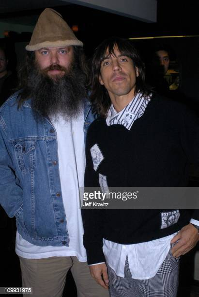 Rick Rubin and Anthony Kiedis during Lost in Translation DVD Launch Party Inside at Koi Restaurant in Los Angeles California United States