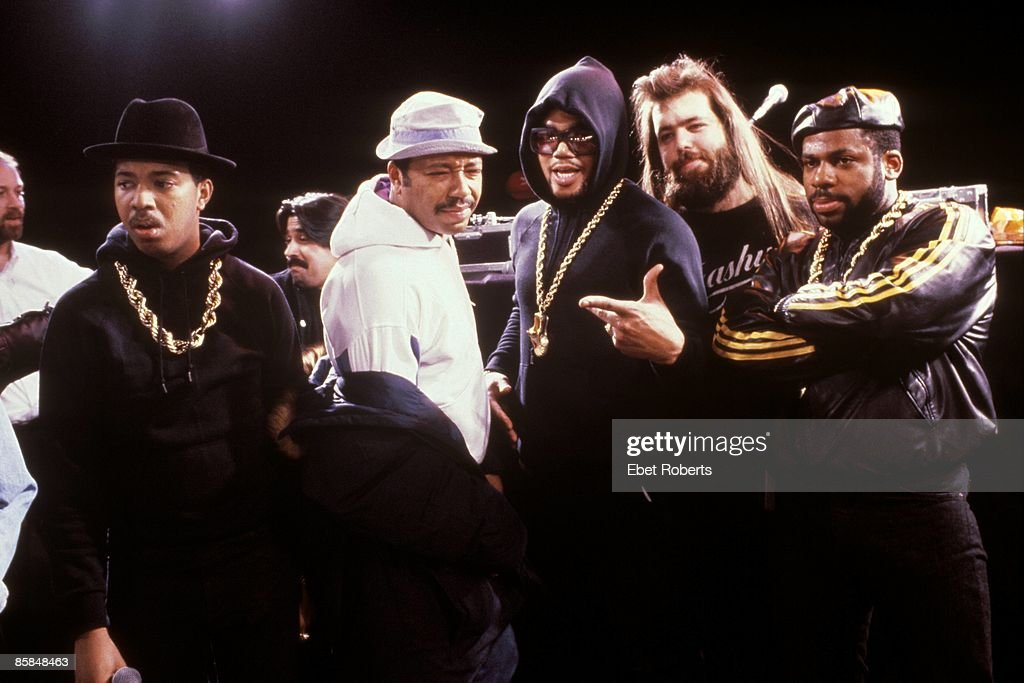 UNSPECIFIED - CIRCA 2000 Photo of Rick RUBIN and Russell SIMMONS and RUN DMC; Russell Simons 2nd from left, Rick Rubin 2nd from right