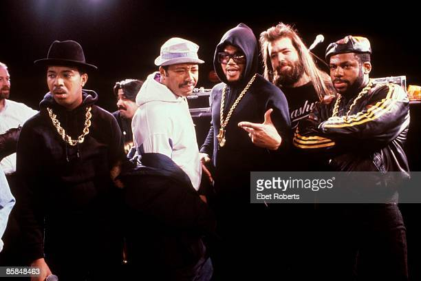 UNSPECIFIED CIRCA 2000 Photo of Rick RUBIN and Russell SIMMONS and RUN DMC Russell Simons 2nd from left Rick Rubin 2nd from right