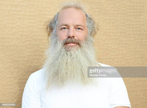 Rick Rubin music producer is photographed at the Vanity Fair New Establishment Summit at Yerba Buena Center for the Arts on October 7 2015 in San...