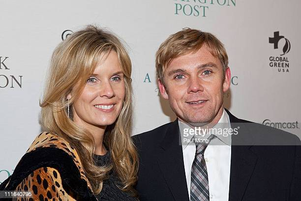 Rick Schroder and Andrea Schroder attend The Huffington Post preinaugural ball at the Newseum on January 19 2009 in Washington DC