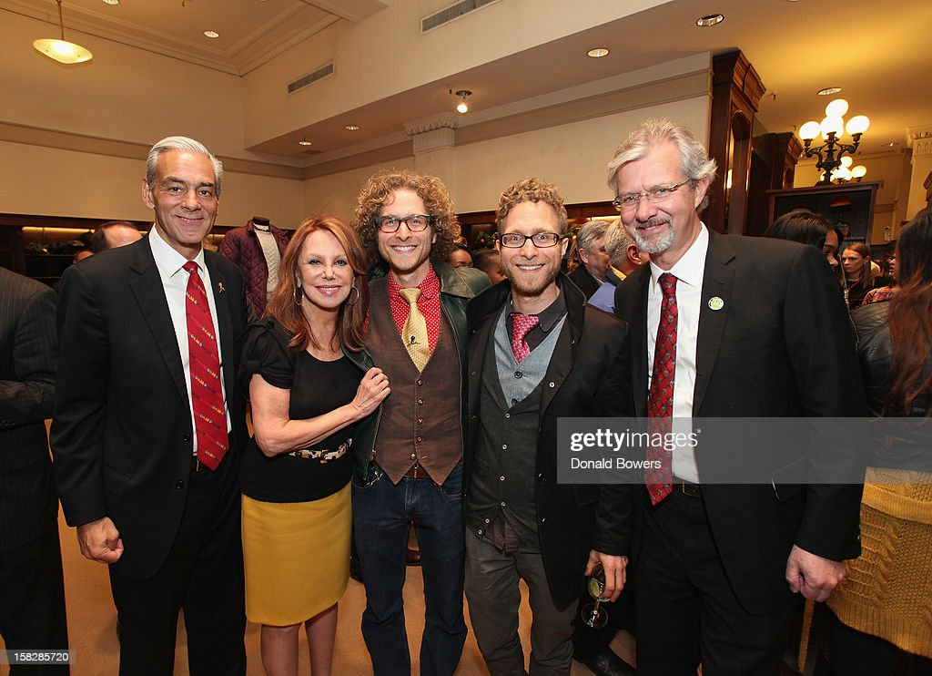 Rick Shadyal, Marlo Thomas, Michael Swart, Jeffrey Swart and Claudio Del Vecchio attend The Brooks Brothers Hosts Seventh Annual Holiday Celebration To Benefit St Jude Children's Research Hospital on December 12, 2012 in New York City.