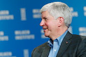 Rick Snyder governor of Michigan speaks at the annual Milken Institute Global Conference in Beverly Hills California US on Monday April 27 2015 The...