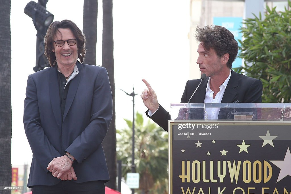 Rick Springfield and Richard Marx attend the ceremony honoring Rick Springfield with a Star on The Hollywood Walk of Fame on May 9, 2014 in Hollywood, California.