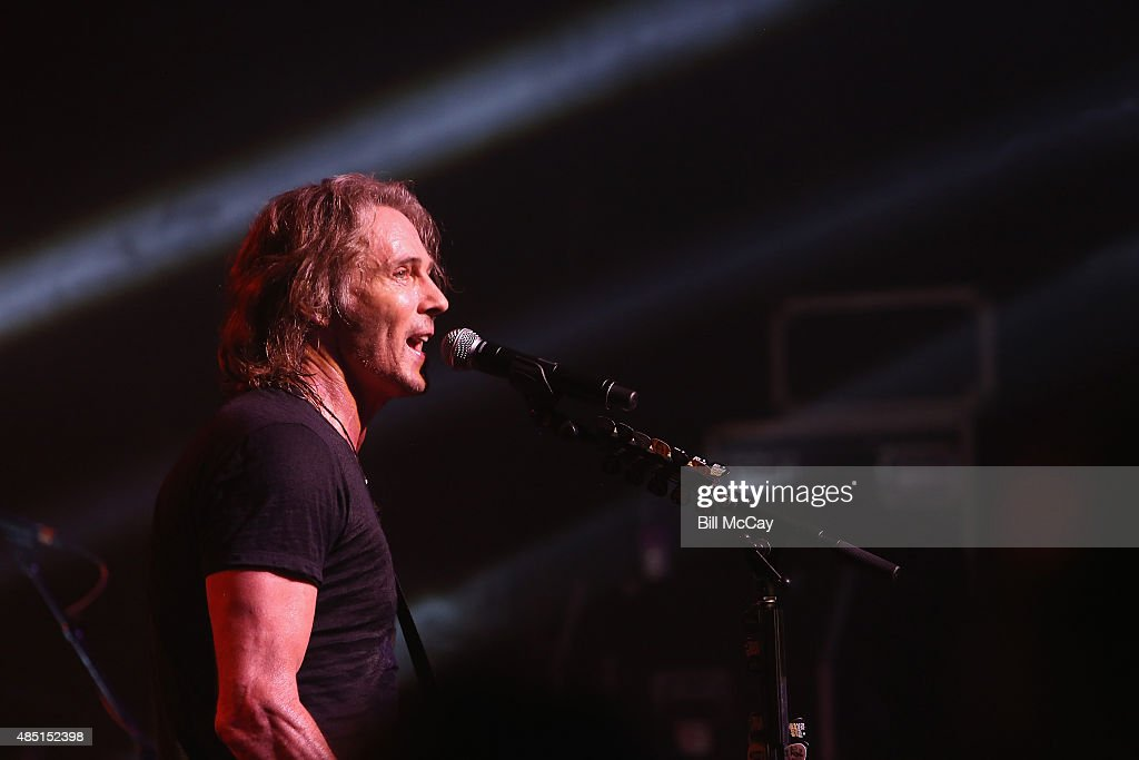 Rick Springfield performs at the Rick Springfield With Special Guest Loverboy Performs Private Concert for SiriusXM Subscribers at the Theatre of...
