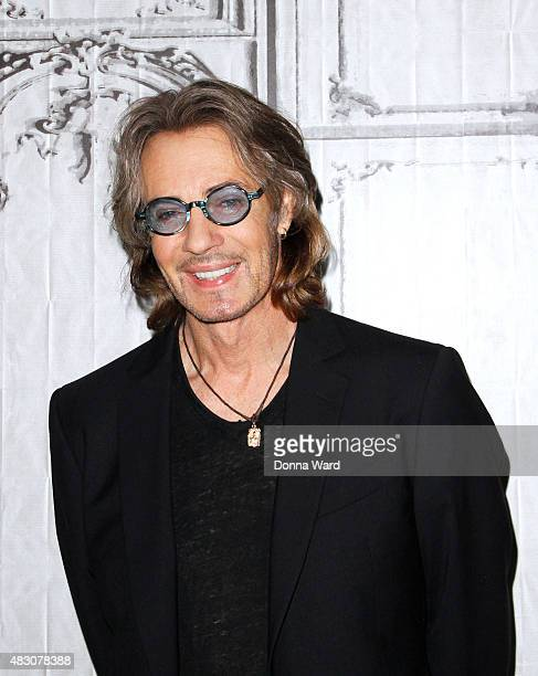 Rick Springfield poses to promote 'Ricki And The Flash' during the BUILD Series at AOL Studios in New York on August 5 2015 in New York City