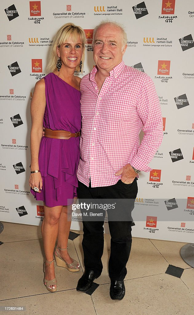 Rick Stein (R) and wife Sarah attend the private view of 'elBulli: Ferran Adria and The Art of Food' at Somerset House on July 4, 2013 in London, England. The exhibition, in partnership with Estrella Damm, opens on July 5th and runs until September 29th 2013.