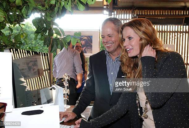 Rick Talmage and Rebecca Mader attend the luncheon for the Solstice Sunglassescom ECommerce launch on November 16 2010 in West Hollywood California