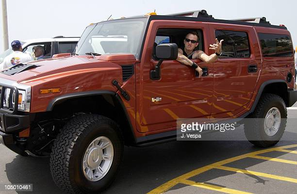 Rick Thorne in a new Hummer H2 during Movieline 'Beauty on the Beach' Party at Gladstone's Malibu in Malibu California United States