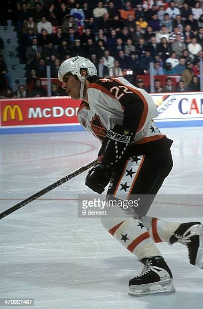 Rick Tocchet of the Wales Conference and the Pittsburgh Penguins skates on ice during the 1993 44th NHL AllStar Game against the Campbell Conference...