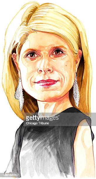 Rick Tuma illustration of Shannon Schuyler head of corporate responsibility for PricewaterhouseCoopers