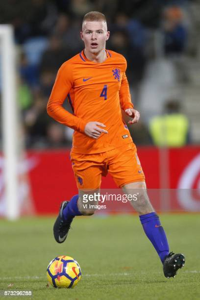 Rick van Drongelen of Jong Oranje during the EURO U21 2017 qualifying match between Netherlands U21 and Andorra U21 at the Vijverberg stadium on...