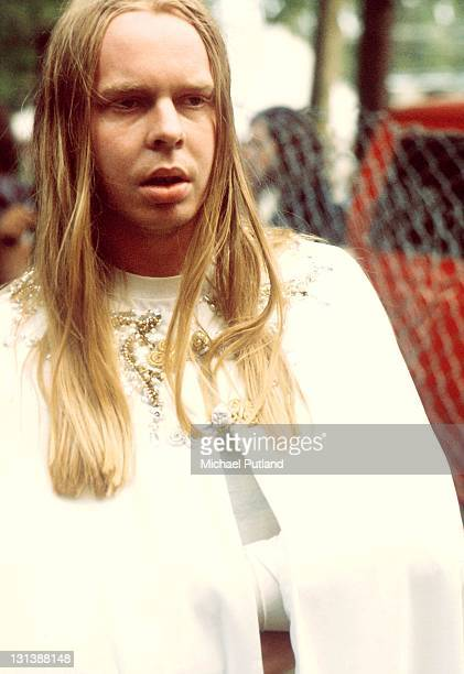 Rick Wakeman backstage at Crystal Palace concert London 27th July 1974