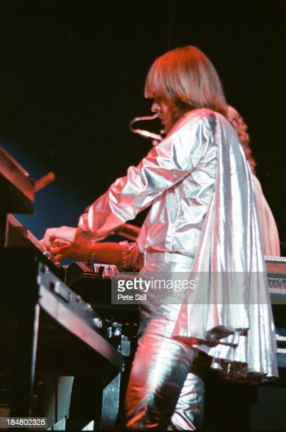 Rick Wakeman of Yes performs on stage at Wembley Arena on October 28th 1978 in London England