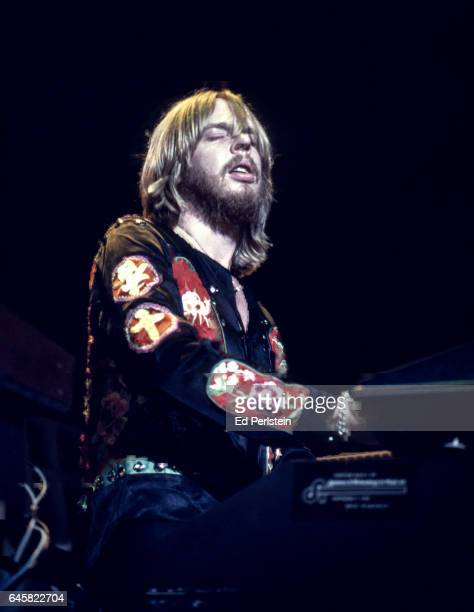 Rick Wakeman performs with Yes at the Oakland Coliseum in Oakland California on September 21 1977