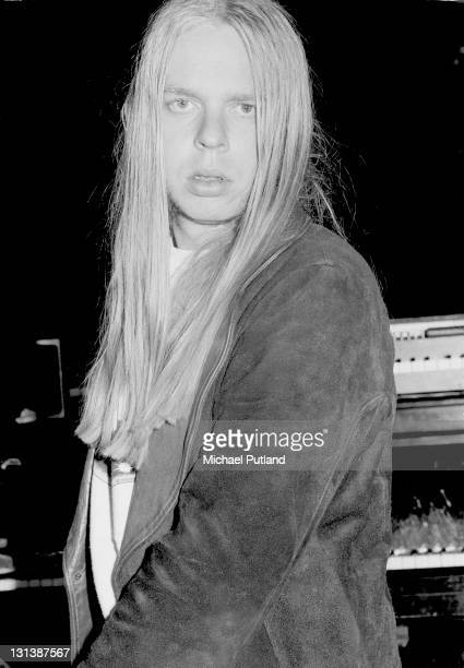 Rick Wakeman portrait at rehearsals for his King Arthur on Ice stage show Wembley Empire Pool London May 1975