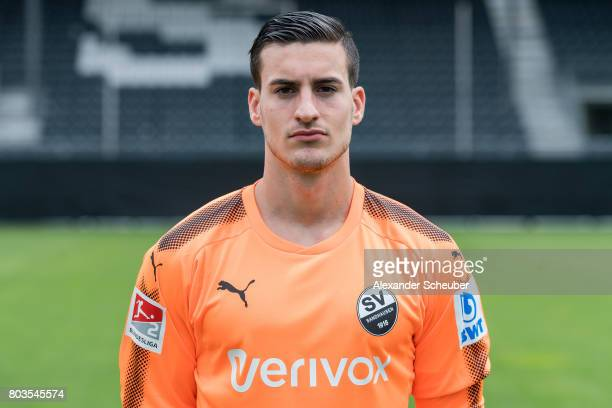 Rick Wulle poses during the team presentation at on June 29 2017 in Sandhausen Germany