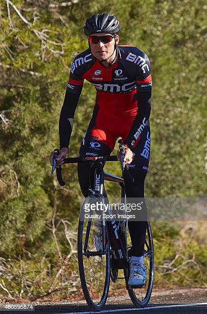 Rick Zabel of BMC Racing team rides during the training session of the BMC Racing team at the Hotel La Sella on December 17 2014 in Alicante Spain