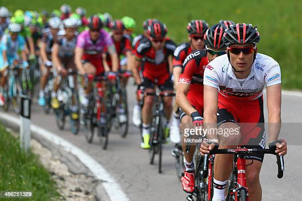 Rick Zabel of Germany and BMC Racing Team during stage two of the Giro del Trentino from Limone sul Garda to San Giacomo di Brentonico on April 23...