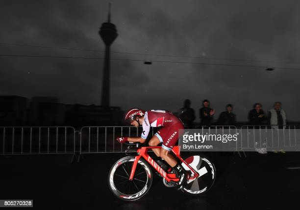 Rick Zabel of Germany and KatushaAlpecin competes during stage one of Le Tour de France 2017 a 14km individual time trial on July 1 2017 in...