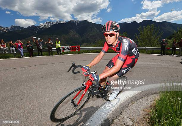 Rick Zabel of Germny and BMC Racing Team during stage three of the Giro del Trentino from Mori to Roncone on April 24 2014 in Trento Italy
