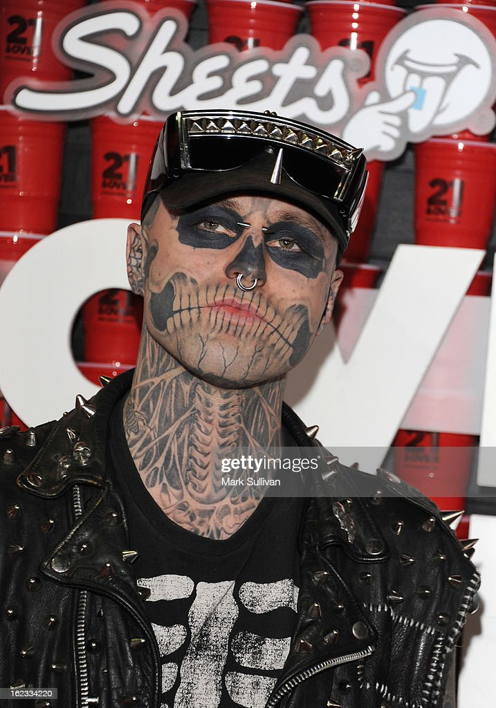 Rick 'Zombie Boy' Genest attends the premiere of Relativity Media's '21 And Over' at Westwood Village on February 21, 2013 in Los Angeles, California.