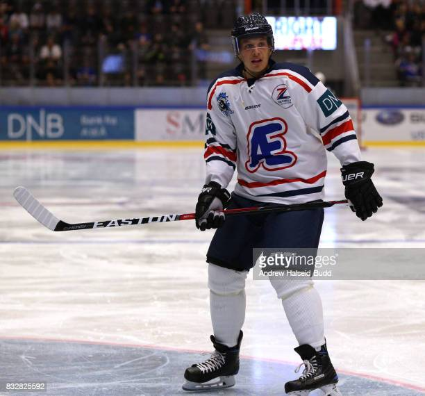 Rickard Rakell in action during the Team Zuccarello v Team Icebreakers All Star Game at the DNB Arena on August 16 2017 in Stavanger Norway