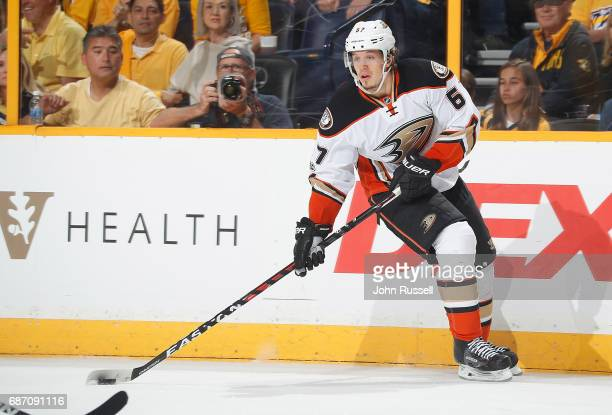 Rickard Rakell of the Anaheim Ducks skates against the Nashville Predators in Game Three of the Western Conference Final during the 2017 NHL Stanley...
