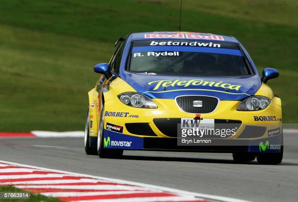 Rickard Rydell of Sweden and Seat Sport Sverige in action during free practice for the FIA World Touring Car Championship on May 20 2006 at Brands...