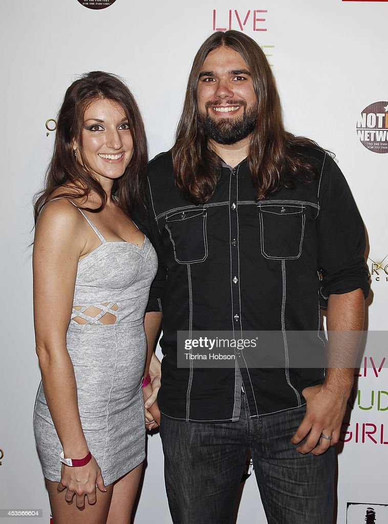A.J. Rickert-Epstein (L) and Guest attend the 'Live Nude Girls' premiere at Avalon on August 12, 2014 in Hollywood, California.