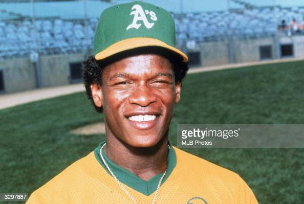 Rickey Henderson of the Oakland Athletics smiles for a photo circa 1982