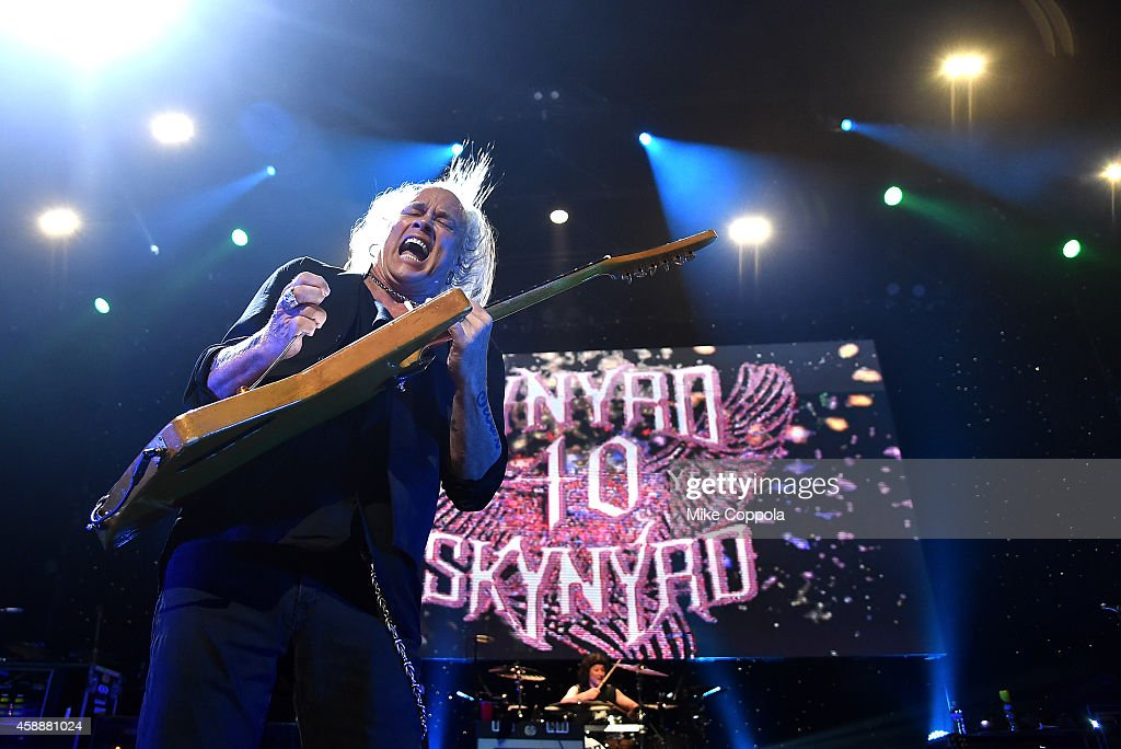 Rickey Medlocke and Michael Cartellone of Lynyrd Skynyrd perform onstage at One More For The Fans Celebrating the Songs Music of Lynyrd Skynyrd at...