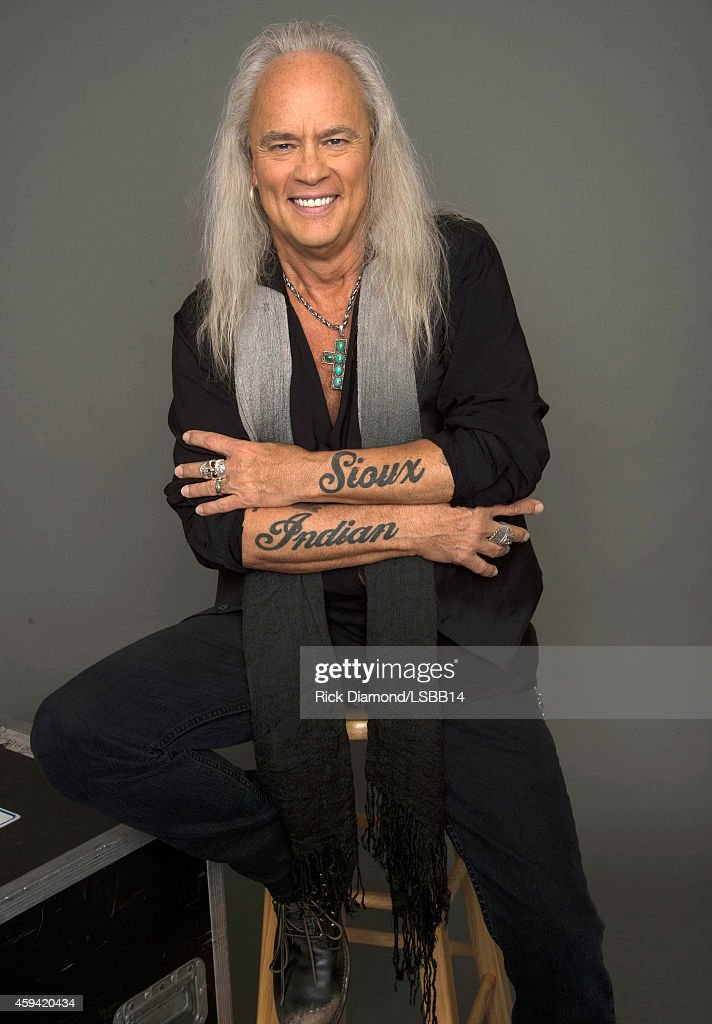 Rickey Medlocke of Lynyrd Skynyrd poses backstage at One More For The Fans! - Celebrating the Songs & Music of Lynyrd Skynyrd at The Fox Theatre on November 12, 2014 in Atlanta, Georgia.