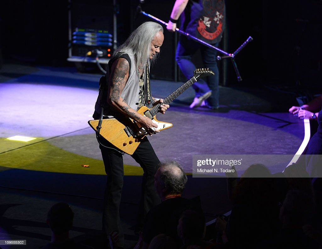 Rickey Medlocke performs at The Beacon Theatre on January 15, 2013 in New York City.