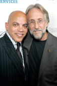 Rickey Minor and President of the Recording Academy Neil Portnow arrive to The Thelonious Monk Institute of Jazz and The Recording Academy Los...