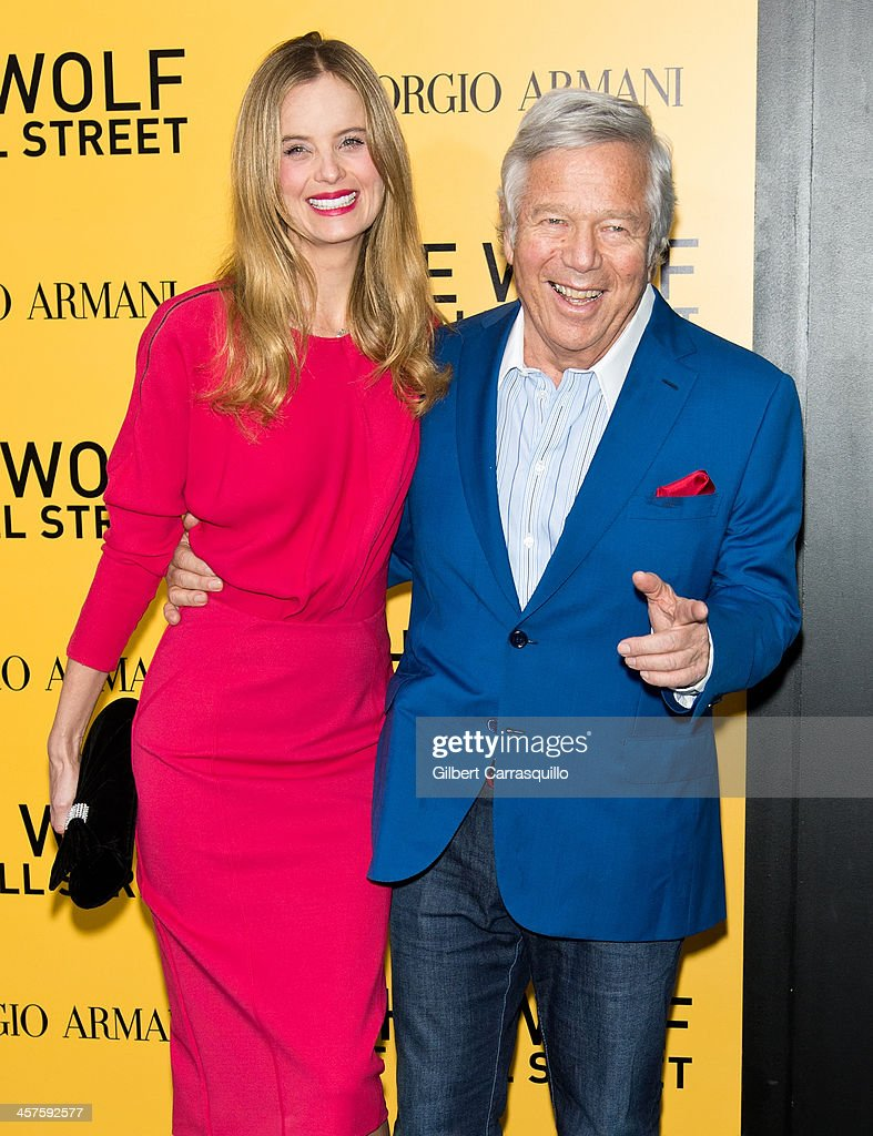 Ricki Noel Lander and <a gi-track='captionPersonalityLinkClicked' href=/galleries/search?phrase=Robert+Kraft&family=editorial&specificpeople=221220 ng-click='$event.stopPropagation()'>Robert Kraft</a> attend the 'The Wolf Of Wall Street' premiere at Ziegfeld Theater on December 17, 2013 in New York City.