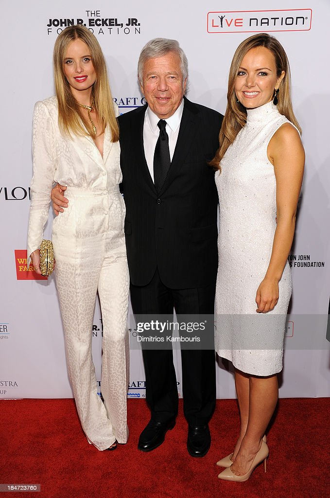Ricki Noel Lander, <a gi-track='captionPersonalityLinkClicked' href=/galleries/search?phrase=Robert+Kraft&family=editorial&specificpeople=221220 ng-click='$event.stopPropagation()'>Robert Kraft</a>, and Nicole Lapin attend the Elton John AIDS Foundation's 12th Annual An Enduring Vision Benefit at Cipriani Wall Street on October 15, 2013 in New York City.
