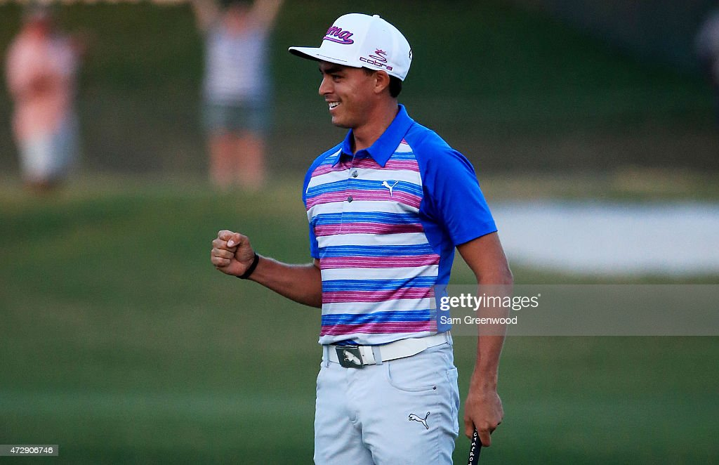 <a gi-track='captionPersonalityLinkClicked' href=/galleries/search?phrase=Rickie+Fowler&family=editorial&specificpeople=4466576 ng-click='$event.stopPropagation()'>Rickie Fowler</a> celebrates as he wins the playoff in the final round of THE PLAYERS Championship at the TPC Sawgrass Stadium course on May 10, 2015 in Ponte Vedra Beach, Florida.