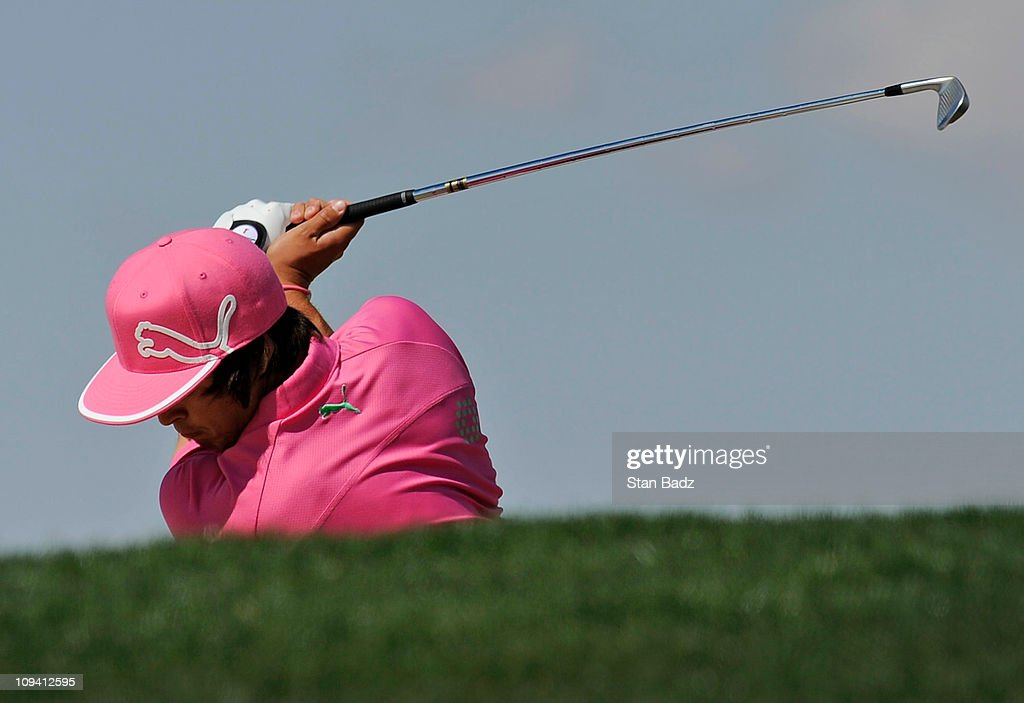 <a gi-track='captionPersonalityLinkClicked' href=/galleries/search?phrase=Rickie+Fowler+-+Golfer&family=editorial&specificpeople=4466576 ng-click='$event.stopPropagation()'>Rickie Fowler</a> hits a shot from the eighth hole during the second round of the World Golf Championships-Accenture Match Play Championship at The Ritz-Carlton Golf Club, Dove Mountain on February 24, 2011 in Marana, Arizona.
