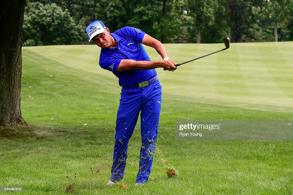 <a gi-track='captionPersonalityLinkClicked' href=/galleries/search?phrase=Rickie+Fowler+-+Golfer&family=editorial&specificpeople=4466576 ng-click='$event.stopPropagation()'>Rickie Fowler</a> hits an approach shot on the sixth hole during the second round of the World Golf Championships-Bridgestone Invitational at Firestone Country Club on July 1, 2016 in Akron, Ohio.