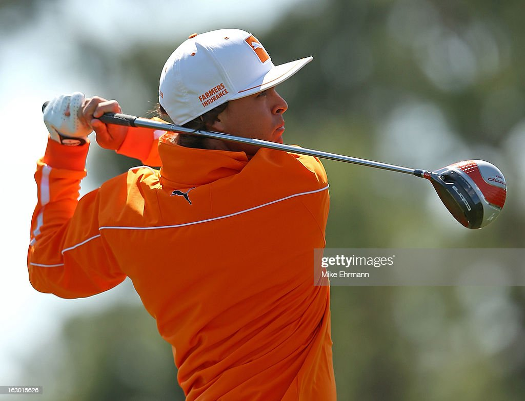 Rickie Fowler hits his tee shot on the second hole during the final round of the Honda Classic at PGA National Resort and Spa on March 3, 2013 in Palm Beach Gardens, Florida.