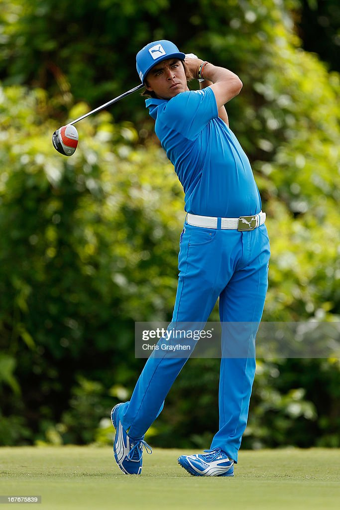 <a gi-track='captionPersonalityLinkClicked' href=/galleries/search?phrase=Rickie+Fowler&family=editorial&specificpeople=4466576 ng-click='$event.stopPropagation()'>Rickie Fowler</a> hits his tee shot on the second hole during the third round of the Zurich Classic of New Orleans at TPC Louisiana on April 27, 2013 in Avondale, Louisiana.