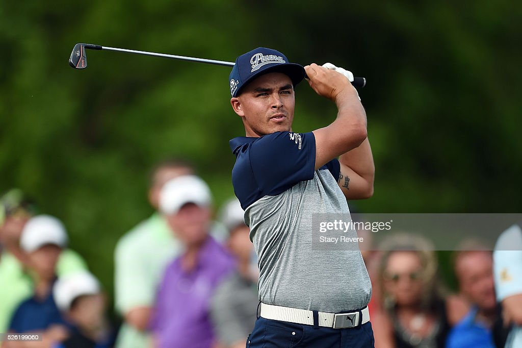 Rickie Fowler hits his tee shot on the third hole during the second round of the Zurich Classic at TPC Louisiana on April 29, 2016 in Avondale, Louisiana.