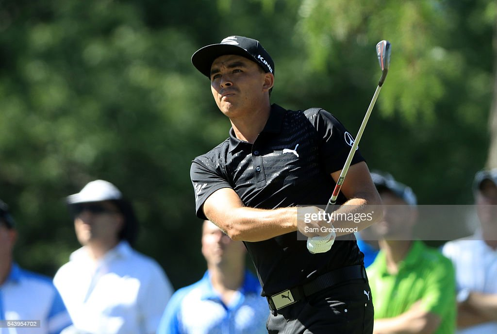 <a gi-track='captionPersonalityLinkClicked' href=/galleries/search?phrase=Rickie+Fowler+-+Golfer&family=editorial&specificpeople=4466576 ng-click='$event.stopPropagation()'>Rickie Fowler</a> hits off the 12th tee during the first round of the World Golf Championships - Bridgestone Invitational at Firestone Country Club South Course on June 30, 2016 in Akron, Ohio.