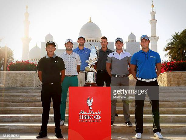 Rickie Fowler of the United States Curtis Luck of Australia Dustin Johnson of the United States Henrik Stenson of Sweden Danny Willett of England and...