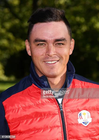 Rickie Fowler of the United States poses during team photocalls prior to the 2016 Ryder Cup at Hazeltine National Golf Club on September 27 2016 in...