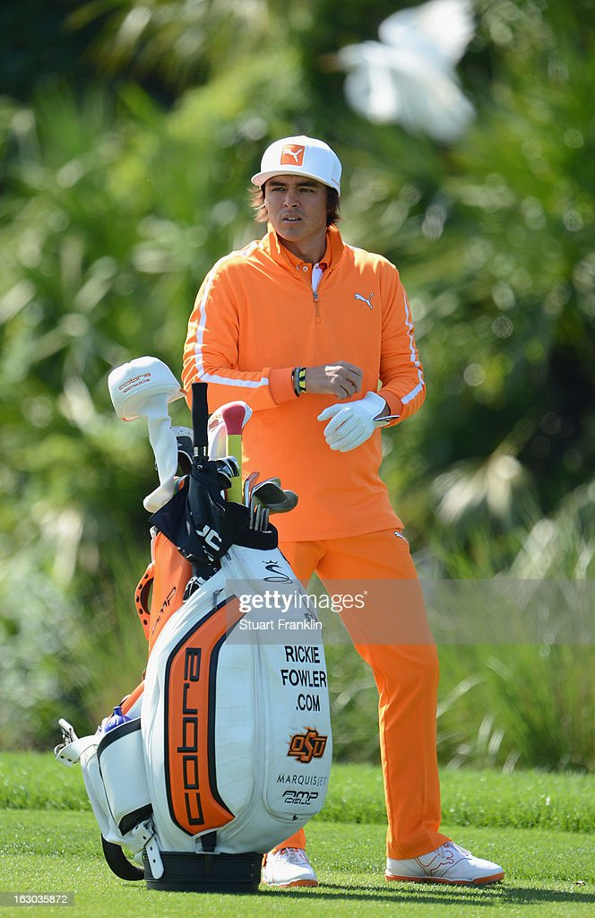 Rickie Fowler of USA ponders a shot during the final round of the Honda Classic on March 3, 2013 in Palm Beach Gardens, Florida.