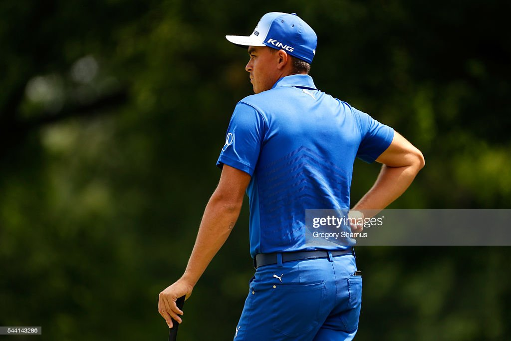 <a gi-track='captionPersonalityLinkClicked' href=/galleries/search?phrase=Rickie+Fowler+-+Golfer&family=editorial&specificpeople=4466576 ng-click='$event.stopPropagation()'>Rickie Fowler</a> prepares to putt on the fourth green during the second round of the World Golf Championships - Bridgestone Invitational at Firestone Country Club South Course on July 1, 2016 in Akron, Ohio.